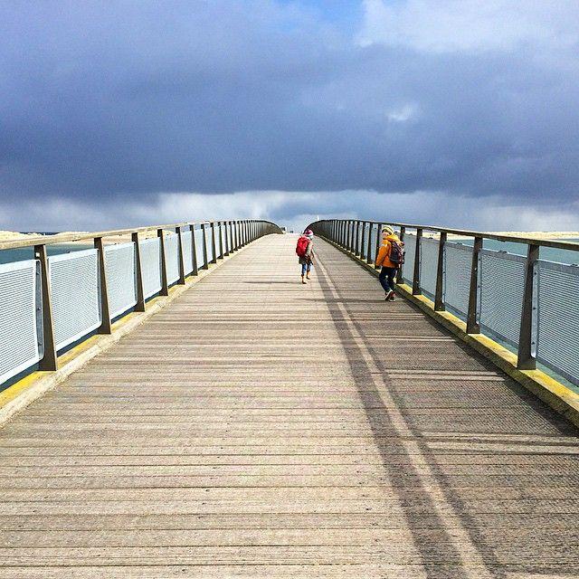 Kopenhagen, Amager Strand. Oh, Brücken! Und plötzlich