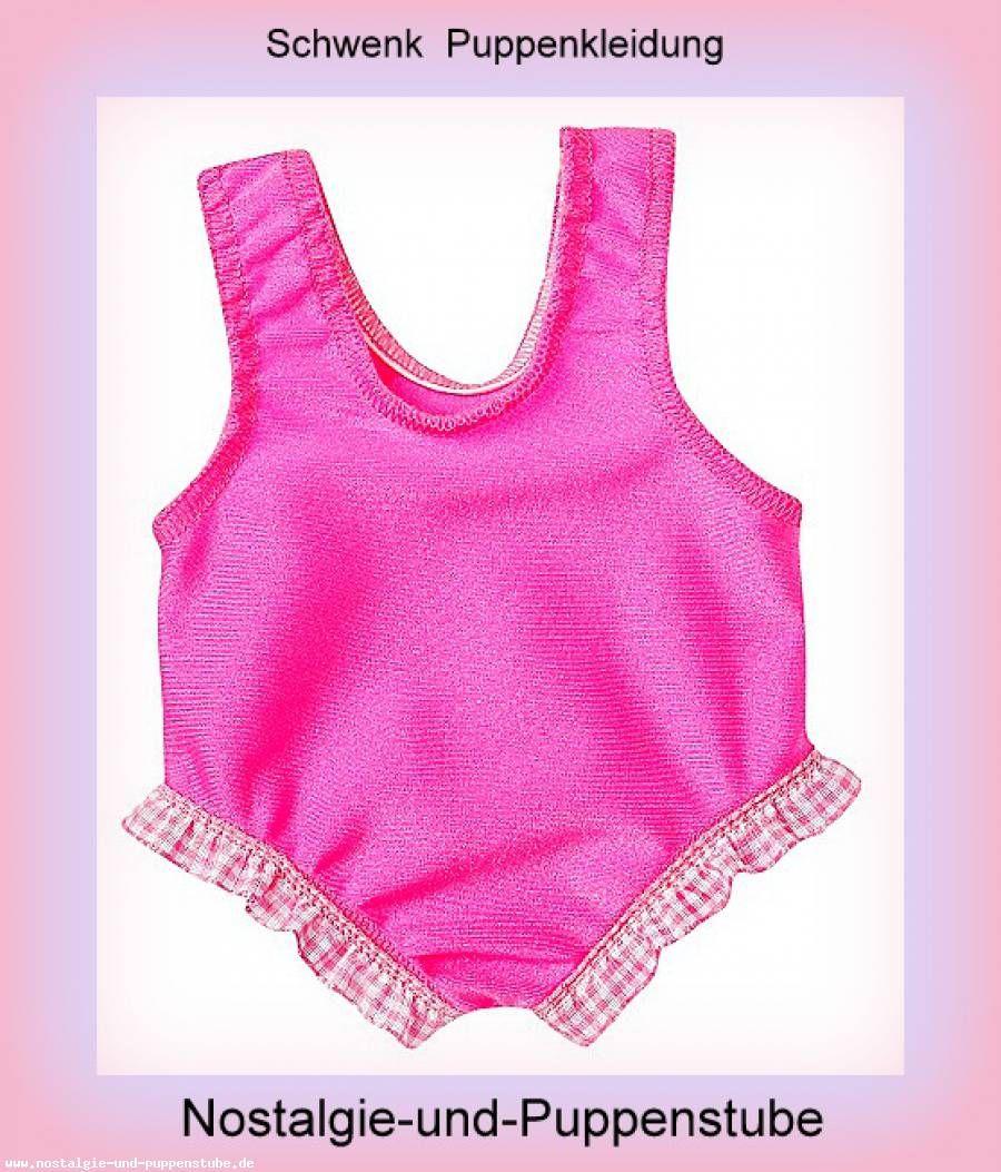 Schwenk Puppen Kleidung Unterwäsche  pink weiß gestreift für 36-40 cm Puppen