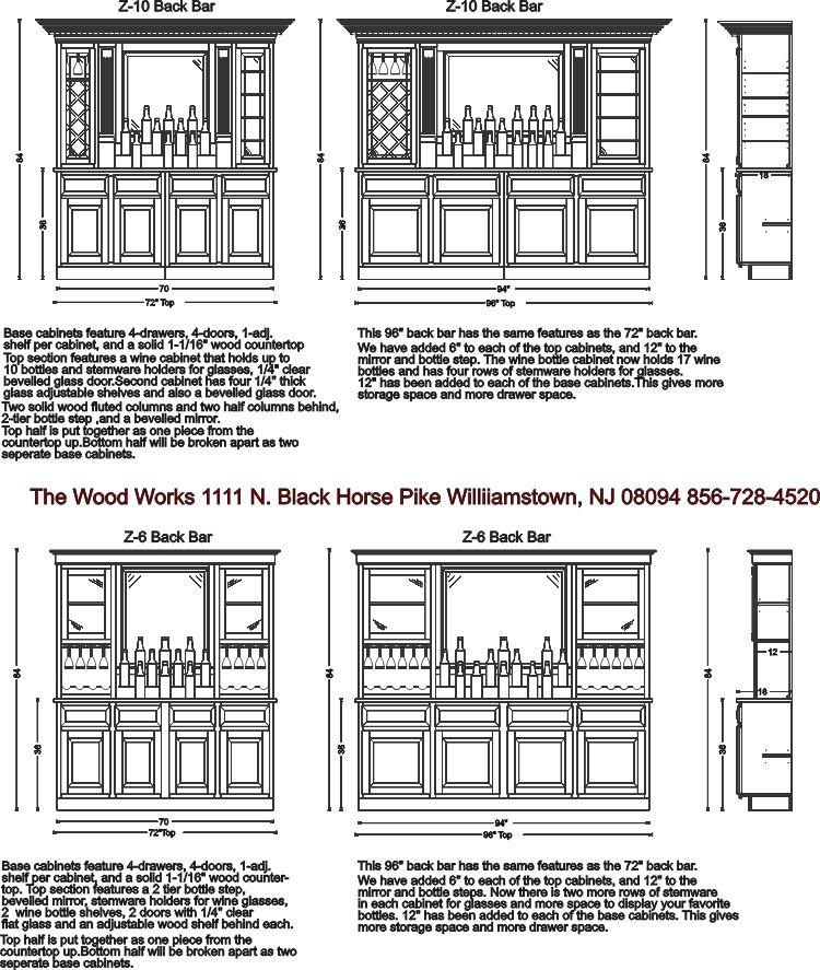 Home back bar design images galleries for Bar back plans