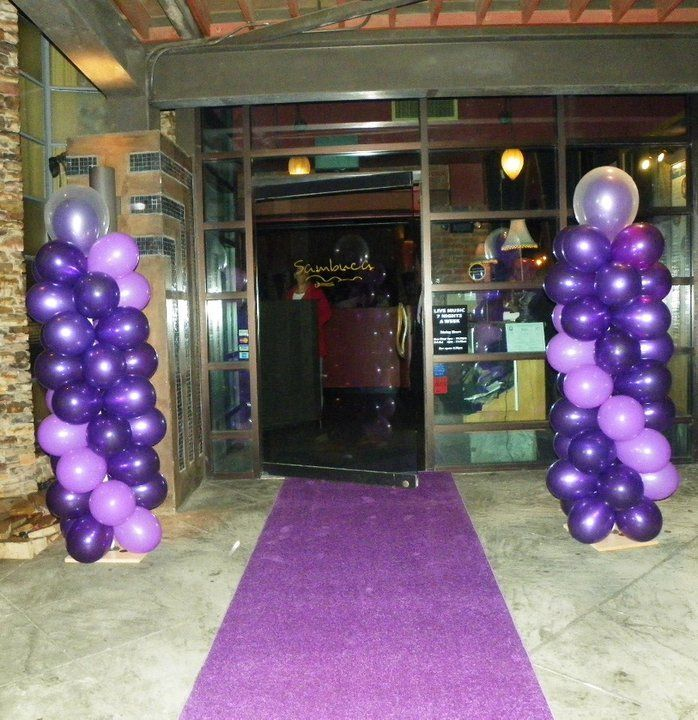 Atlanta Rental Purple Aisle Runner