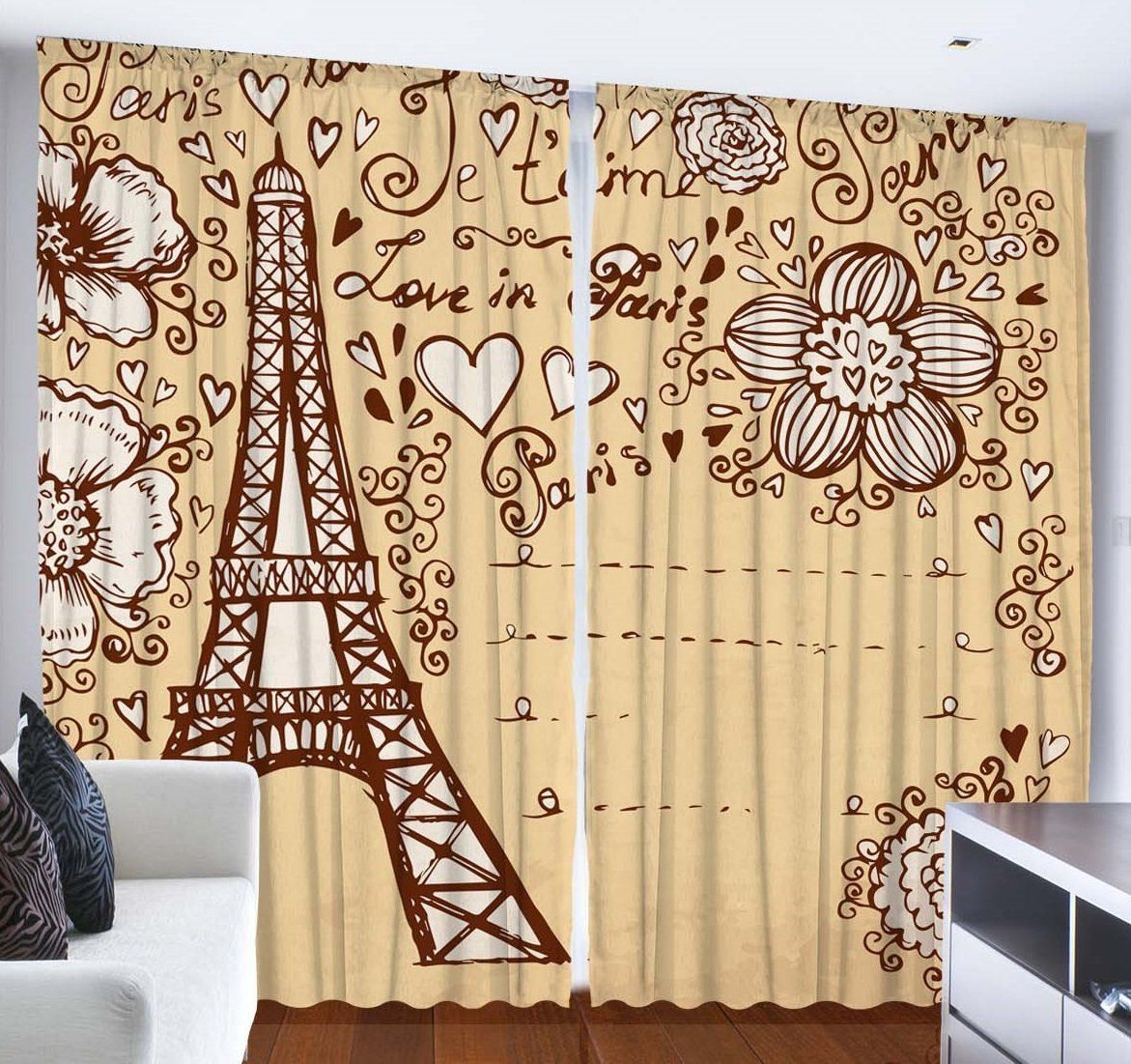 Curtains City Decor for Bedroom Living Room Dining Room Teens Room ...