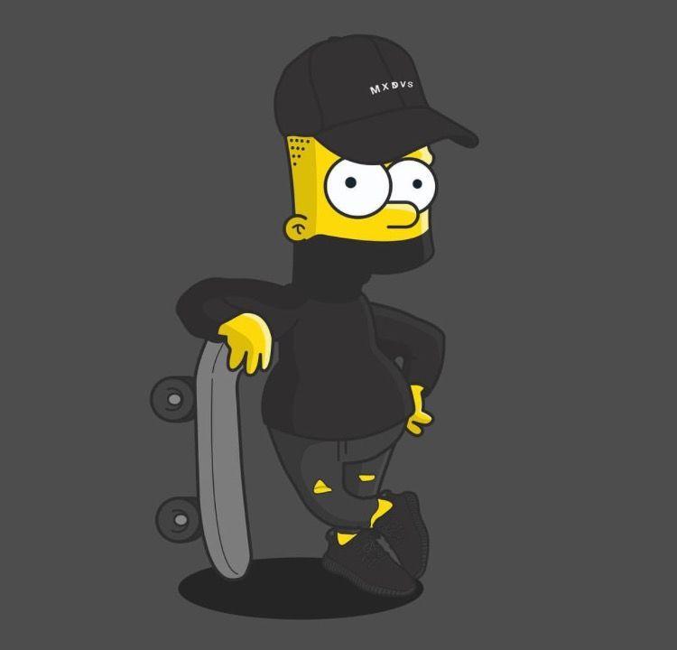 Bart Simpson pitää Hassu-klovnia suurena idolinaan ja on joutunut monesti.