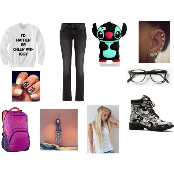 """""""another one of those lazy winter school days outfit"""" by mbvs on Polyvore"""