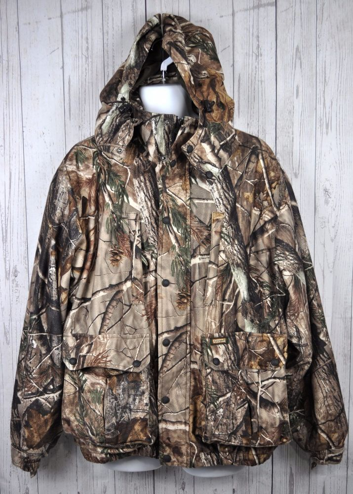 654119702df40 Remington Hunting Coat Jacket Hooded Insulation Camouflage Realtree Mens Sz  L #Realtree