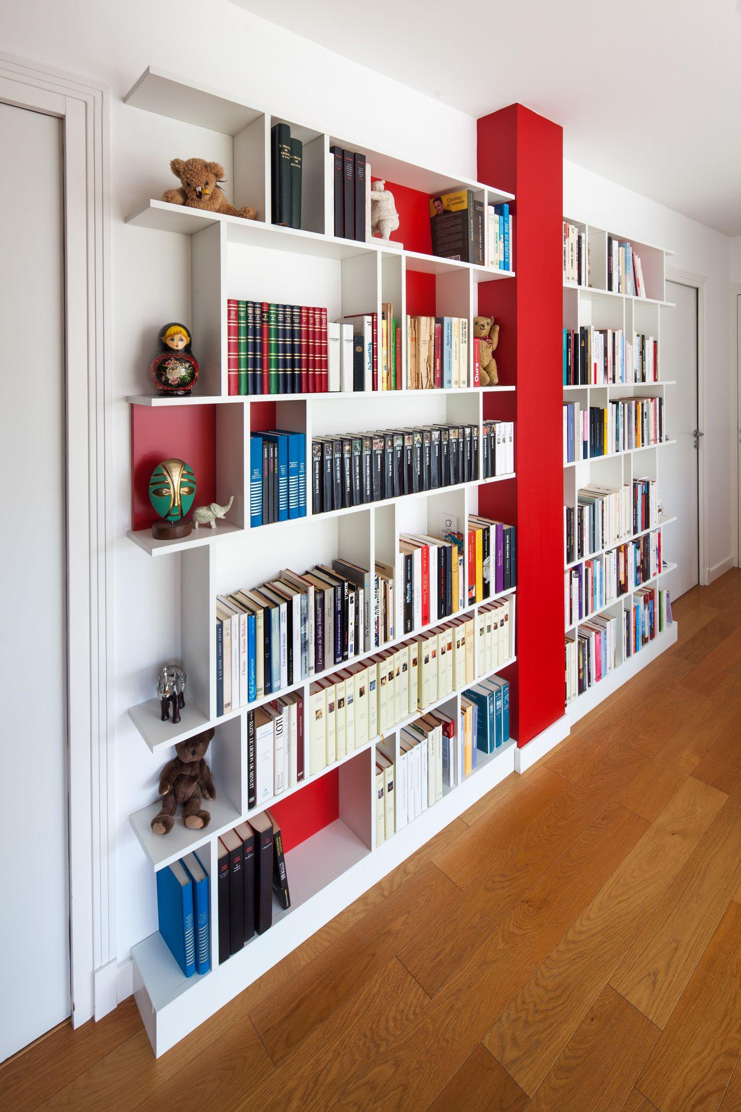 design bibliotheque de la maison