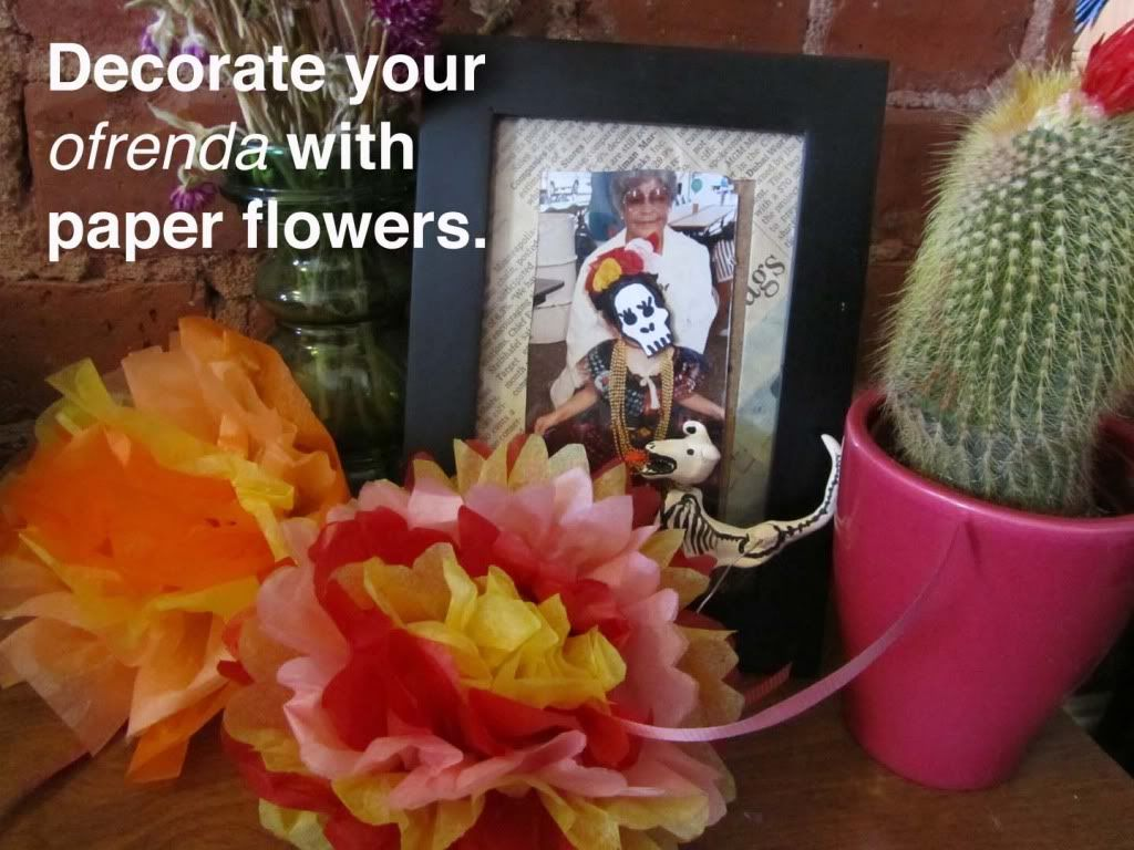 Decorate Your Altar With Paper Flowers For Dia De Los Muertosday Of