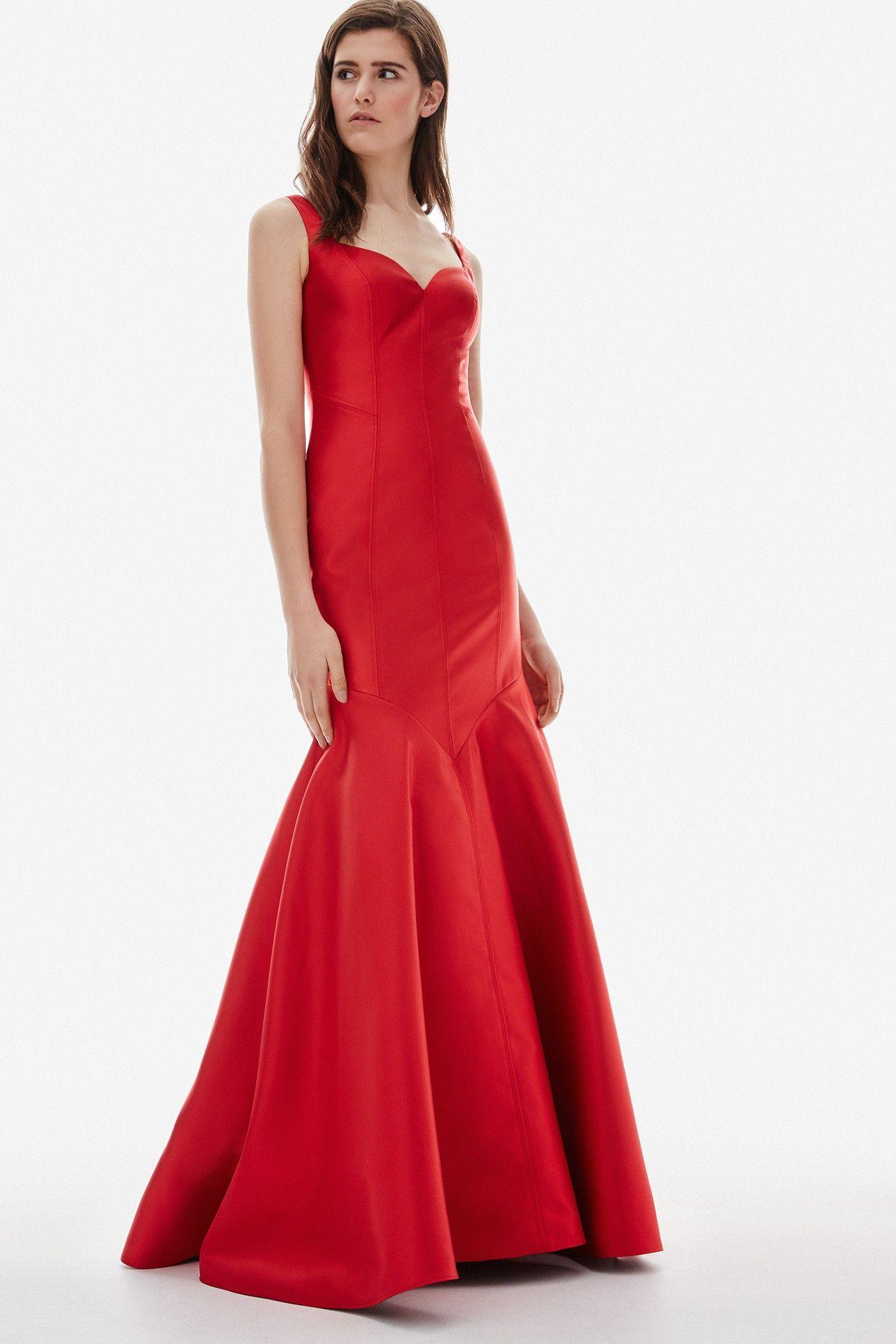 7ae49d9d4110 Vestido rojo largo de corte sirena | Adolfo Dominguez shop online ...