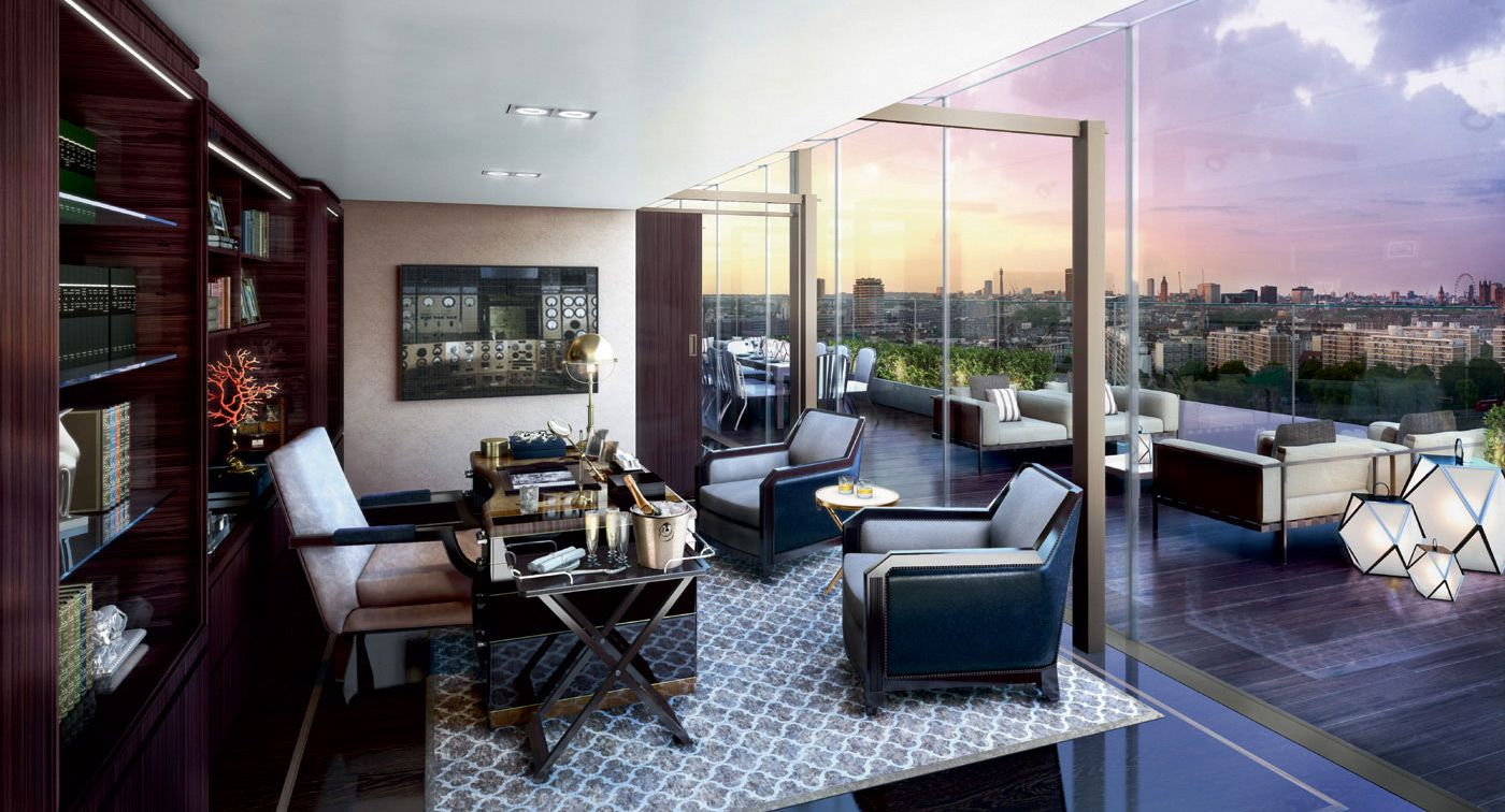 The Access To Large Roof Terrace From Many Of Its Rooms Are A Particular Highlight At Battersea Station Apartment
