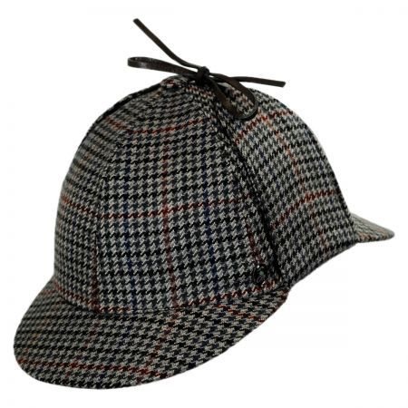 Wool and Cashmere Houndstooth Sherlock Holmes Hat available at   VillageHatShop f7f767e15bc