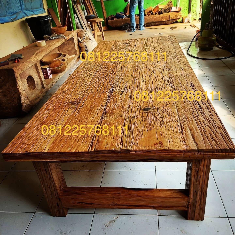 Meja Rustic Kayu Jati Lawas Bekas Rumah Furniture Antik Kayu Jati Meja Kopi Kayu