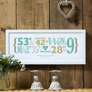 personalised coordinates print birthday gifts things i like