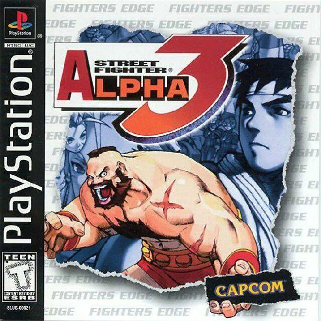 Street Fighter Alpha 3 Sony Playstation 1 1999 Street Fighter