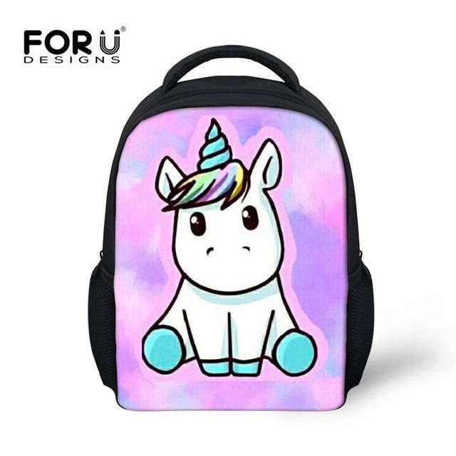d12dde960730 FORUDESIGNS Unicorn Cute kids Backpack School Bag For Kindergarten Girls  Kawaii Shoulder Bag 12 Inch Mini Book Bags Hot Mochila
