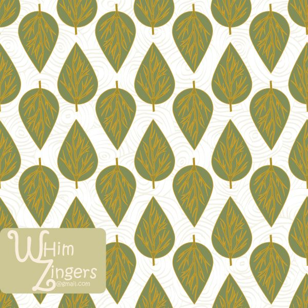 A digital repeat pattern for seamless tiling. #repeatpattern #seamlesspattern #textiledesign #surfacepatterndesign #vectorpatterns #homedecor #apparel #print #interiordesign #decor #repeat #pattern #repeat #seamless #repeating #tile #scrapbooking #wallpaper #fabric #texture #background #whimzingers #leaf #leaves #green #white