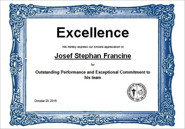 Sports Excellence Award Certificate Template in Word ...
