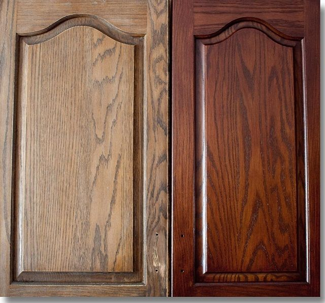 Restaining Cabinets For Kitchen Oak Cabinets Before And