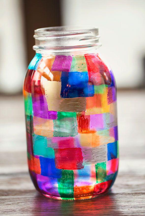 Colorful Diy Sharpie Marker Mason Jar Holder Sharpie