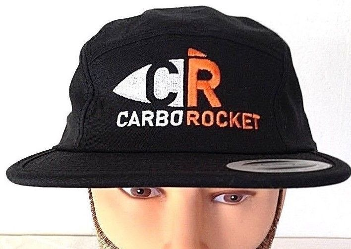cc6688319109e The Classic YUPOONG 5 panel Camp Cap Black hat CR CarboRocket  Yupoong   5Panel
