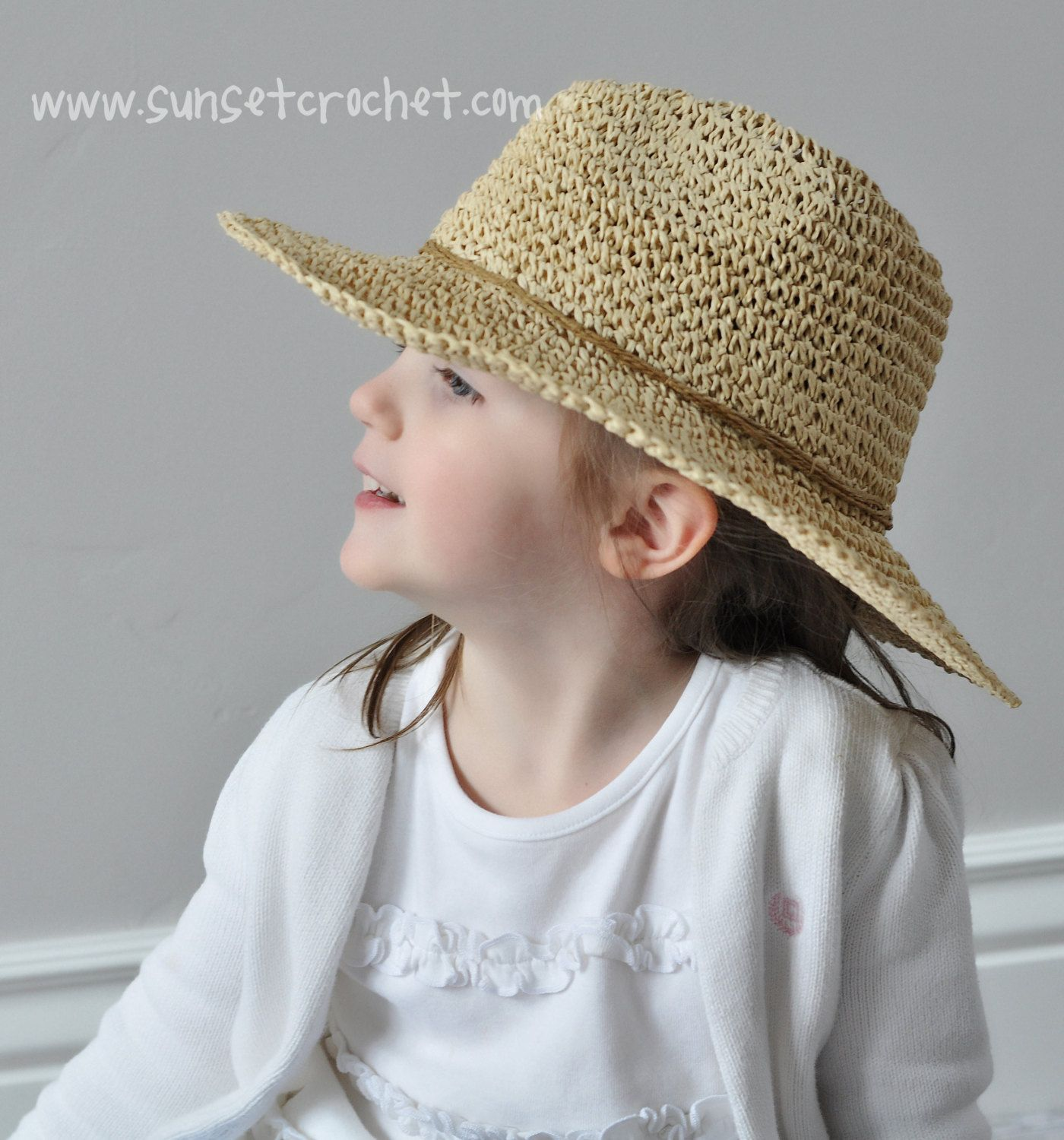 Wide brimmed summer sunhat straw hat crochet pattern 269 hat wide brimmed summer sunhat straw hat crochet pattern 269 bankloansurffo Gallery