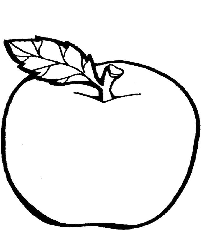 Line Art Of Apple : Apple drawing for kids google search print inspiration