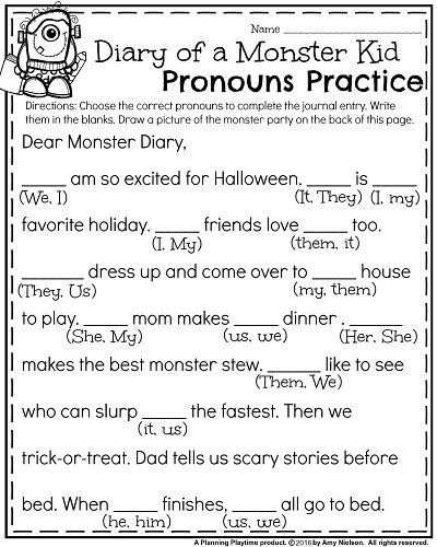 Free Halloween Worksheets 1st Grade : October first grade worksheets monsters and