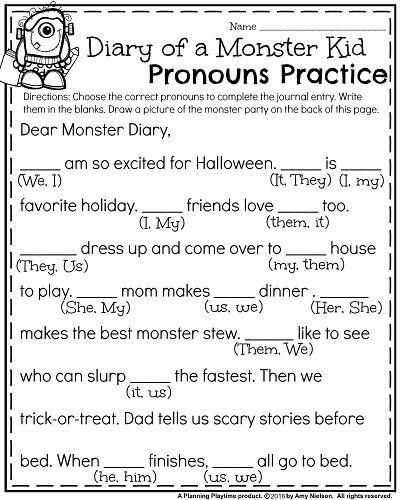 October First Grade Worksheets - Planning Playtime First Grade Worksheets,  1st Grade Math, Halloween Worksheets