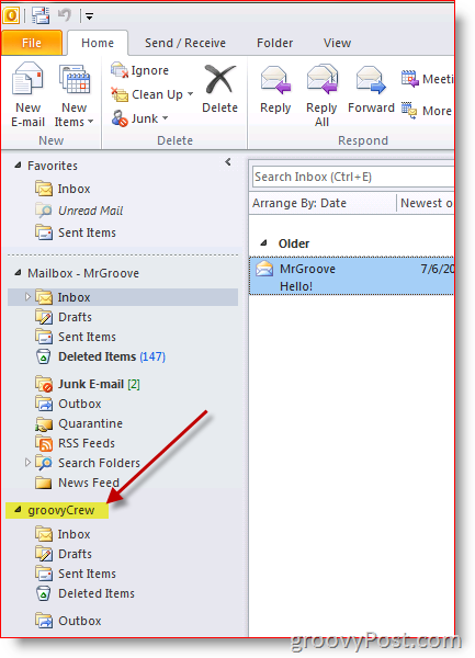 How To Add A Additional Mailbox In Outlook 2010 Mailbox Ads Outlook