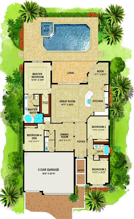 The Princeton Florida House Plans New House Plans Dream House Plans