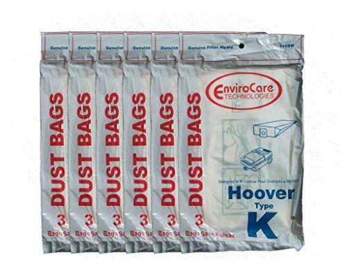 18 Hoover Type K Spirit Vacuum Bags, Canisters, Encore, Supremacy, Older Runabout Vacuum Cleaners,4010028K, 4010100K, H-4010100KES