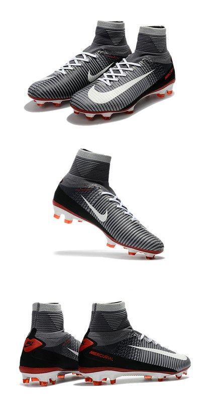 low priced 6a7cb 08f56 Nike Mercurial Superfly V FG Nouveaux Crampon de Foot - Noir Gris Blanc