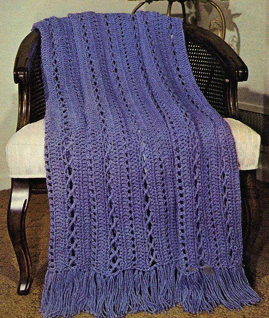 Ravelry Crochet Afghan In Cross Stitch Pattern Pattern By
