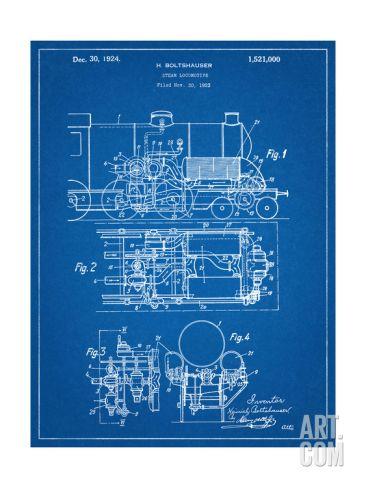 Steam locomotive patent steam locomotive and locomotive steam locomotive patent blueprint artsteam malvernweather Gallery