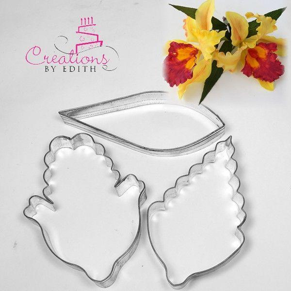 Catleya Orchid 1 In 2020 Cold Porcelain Flowers Paper Flower Kit Fondant Flowers