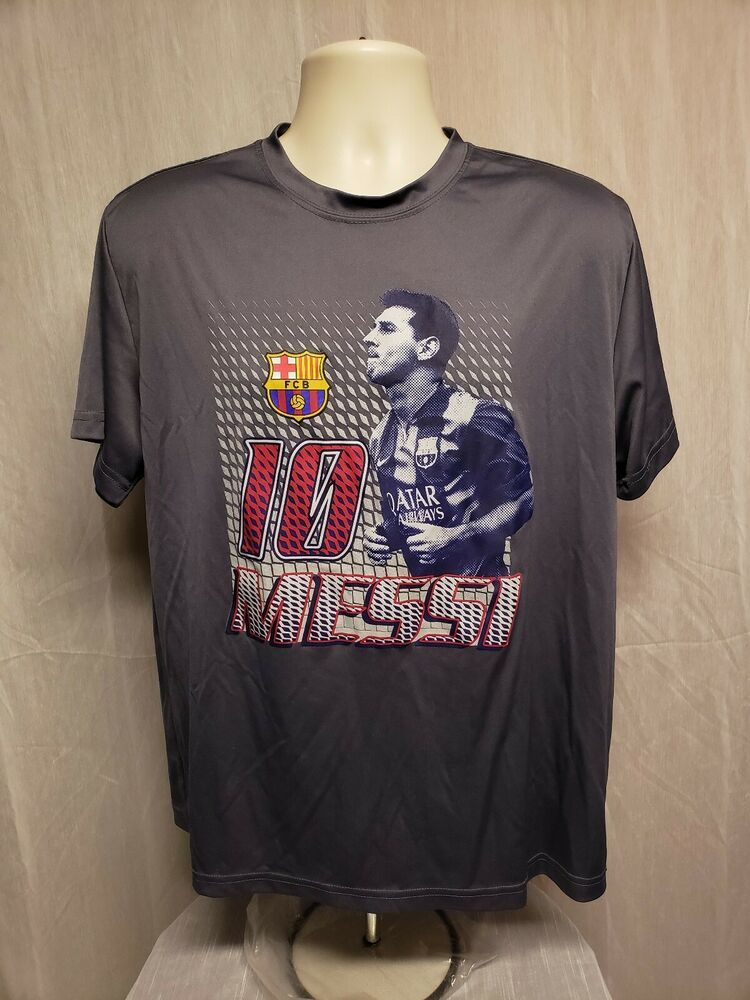 3e6716ab784 FC Barcelona FCB Lionel Messi 10 Adult Gray XL Football Soccer Jersey #FCB # FCBarcelona