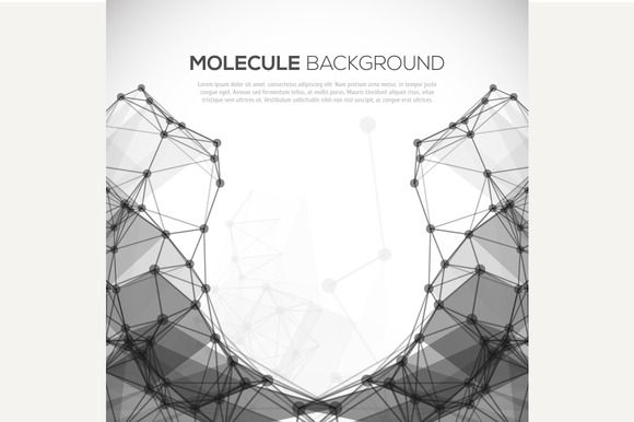Molecule structure vector background by kanva777 on Creative Market
