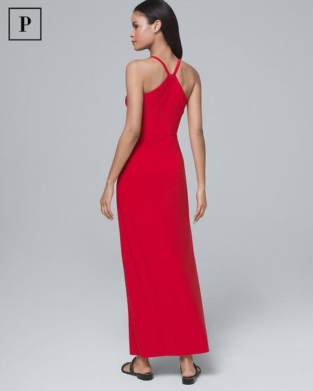 0c7821ec13c Women's Petite Polished Knit Halter Maxi Dress by White House Black Market