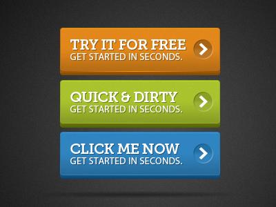 Bright 3d Buttons By Matt Graham Designmoo Web Marketing Marketing Campaigns Buttons