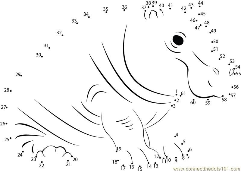Download Or Print Fatty Hippopotamus Dot To Dot Printable