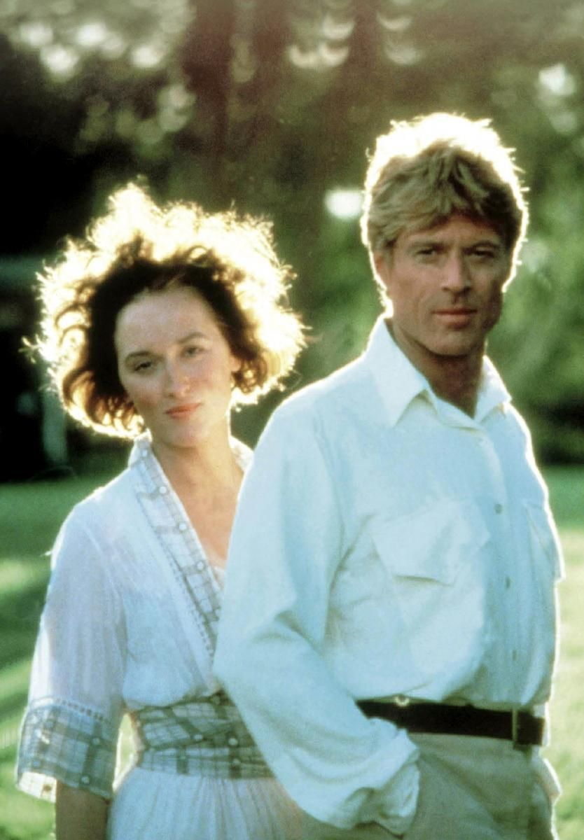 Karin and Denis'    Beautiful shot of Redford and Streep