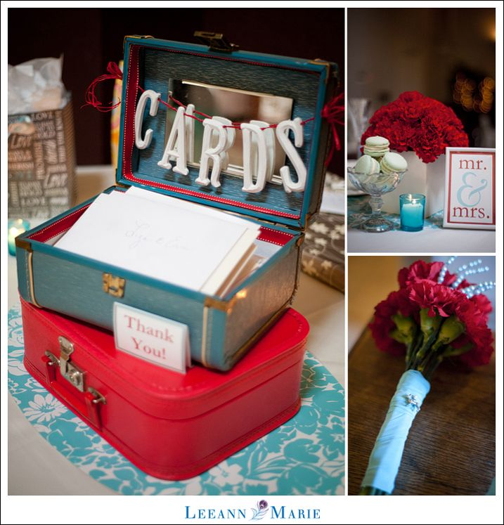Red And Tiffany Blue Wedding Ideas: Bright Red And Tiffany Blue - Cards