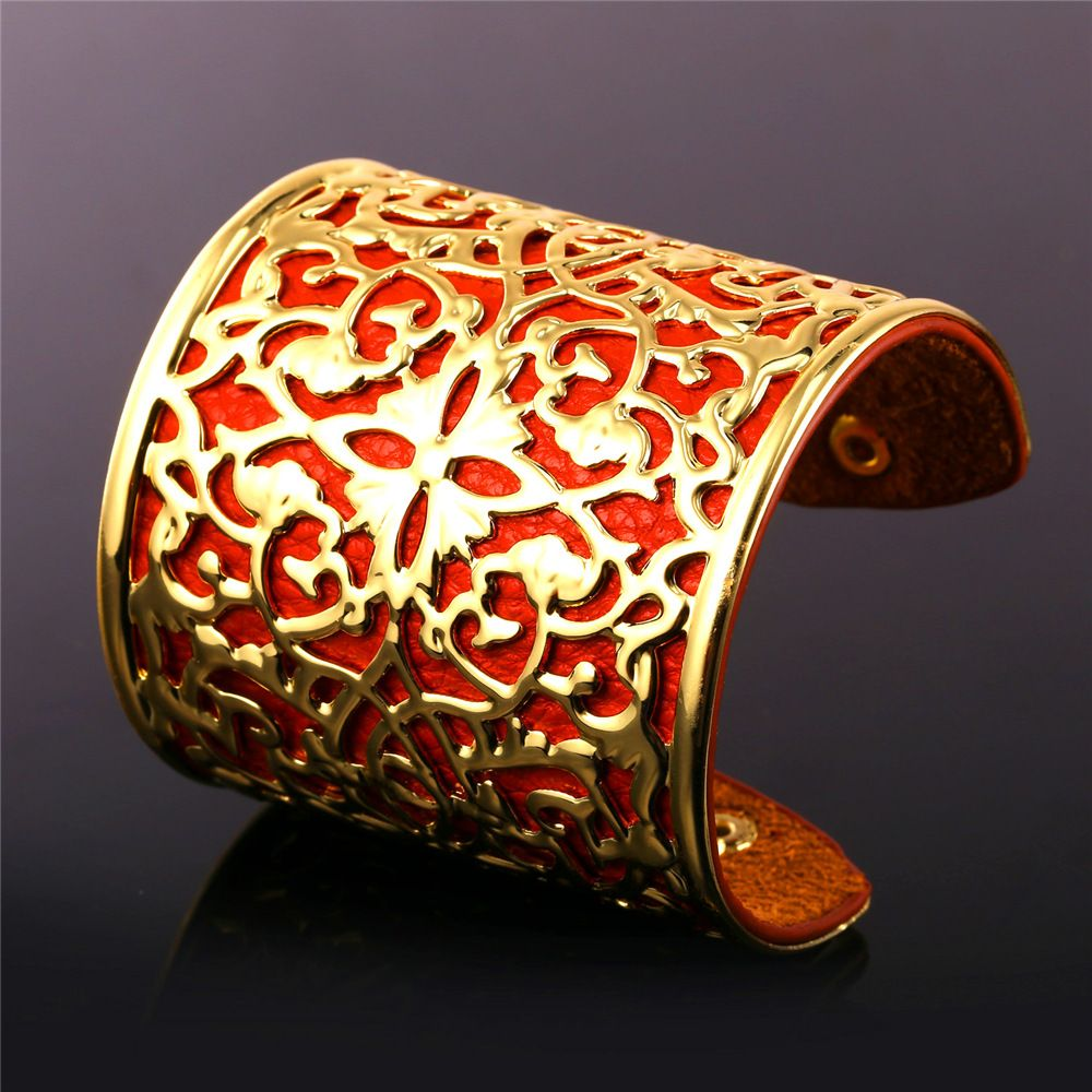 U african jewelry leather bracelets for women fashion yellow gold