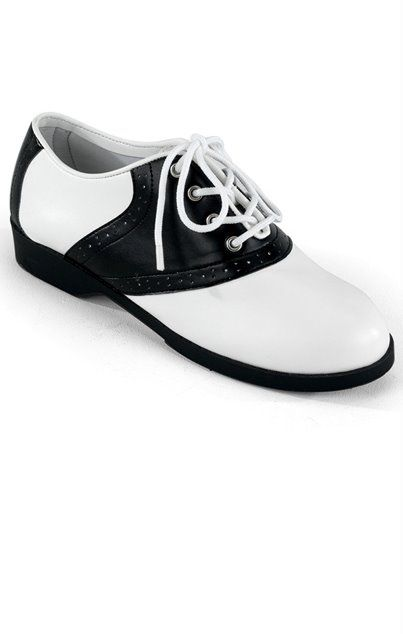 d36285f8349a6 Go to the sock hop in these classic black and white child size ...
