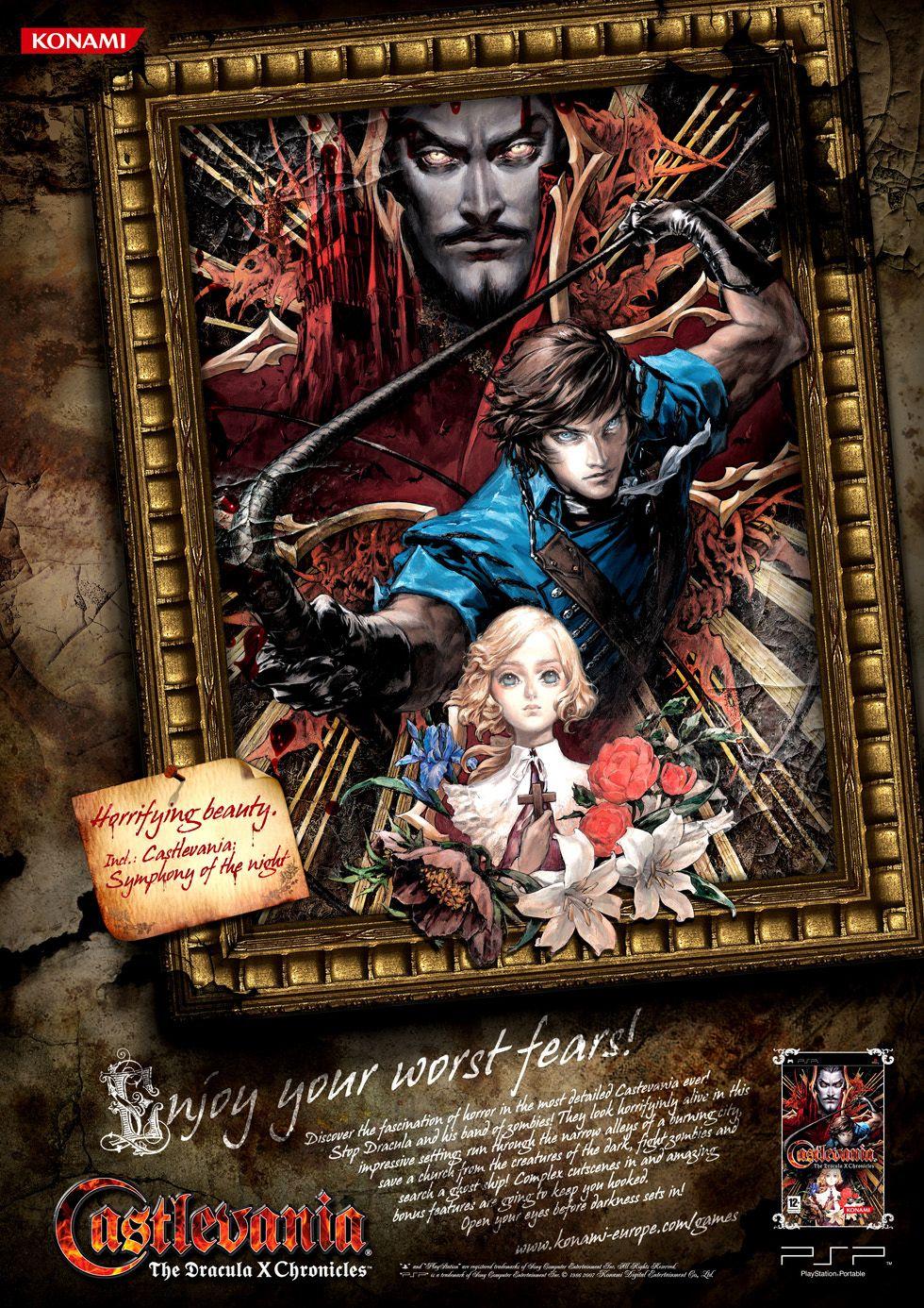Advert . Castlevania Dracula X Chronicles . PSP