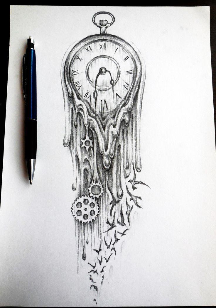Plantillas De Tatuajes Diseños De Relojes Tattoospiercings