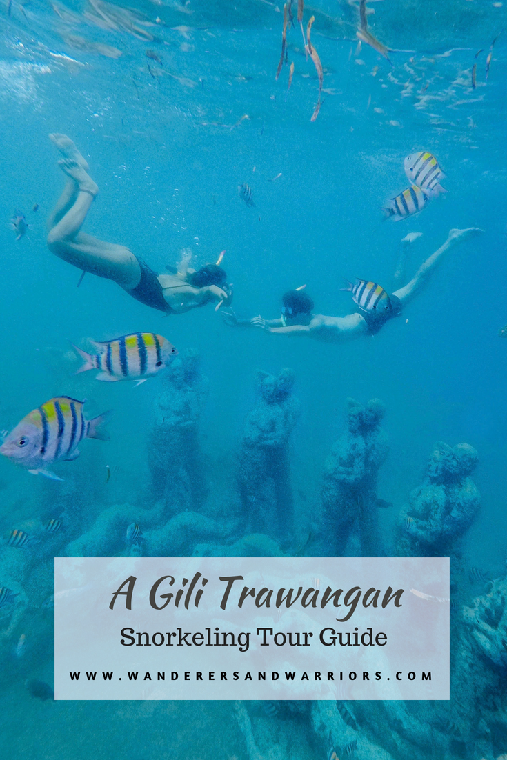 Wanderers & Warriors - Charlie & Lauren UK Travel Couple - Gili Trawangan Snorkeling Tour - Snorkeling Gili Trawangan
