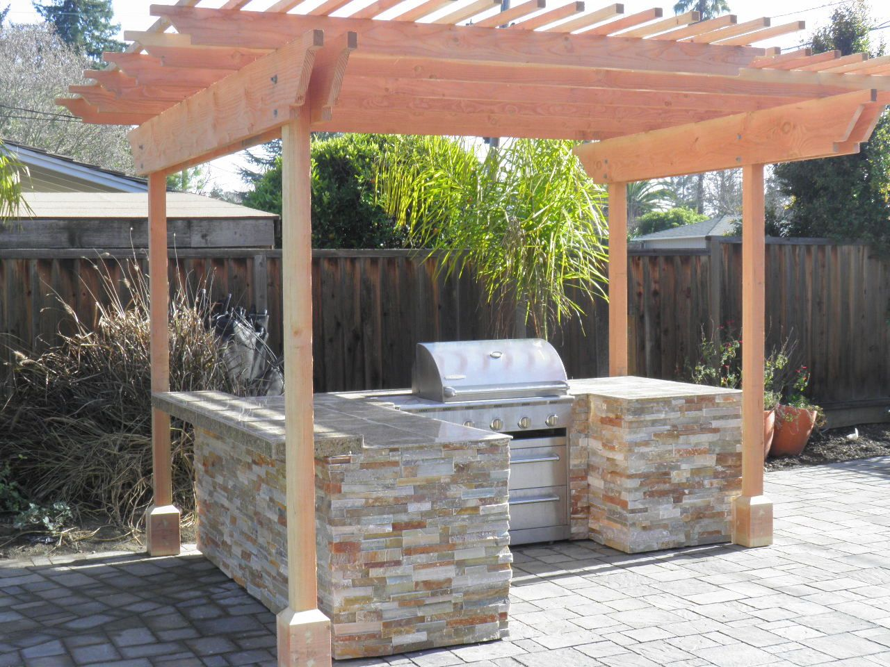 Image detail for kitchen island build in bbq grill build for Outdoor kitchen roof structures