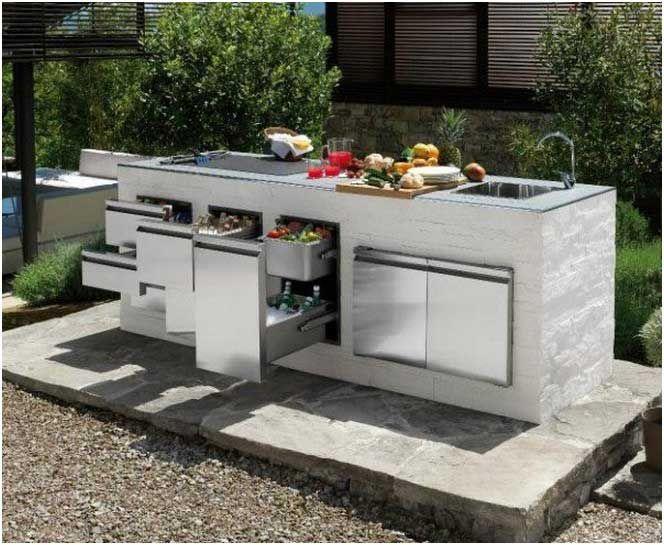 outdoor küche insel gartenideen | outdoorküche | pinterest | im freien - Edelstahl Outdoor Küche
