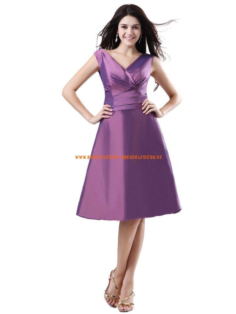 2014 Neue kurze Abendkleider A-Linie Violett   brautkleider berlin ...