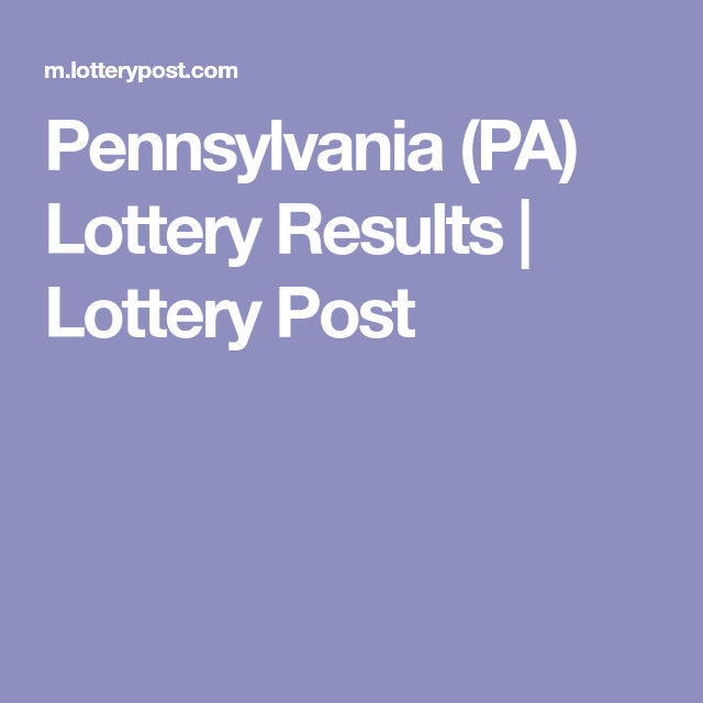 Pennsylvania (PA) Lottery Results | Lottery Post | Scooby do