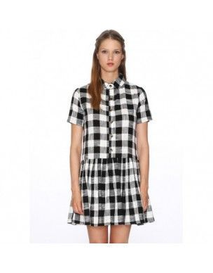 VESTIDO IRIS NEGRO (DRESS IRIS BLACK/WHITE) DE PEPALOVES